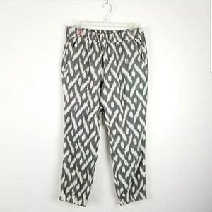 J Crew Seaside Pants in Ikat Print Joggers Pull On